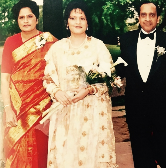 On the wedding day of her daughter, Deepa